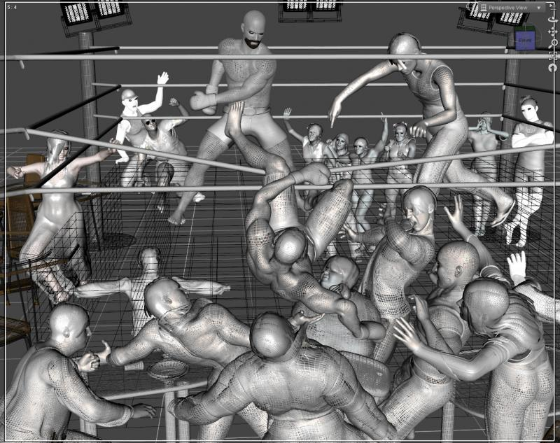 Boxing - Lit Wireframe