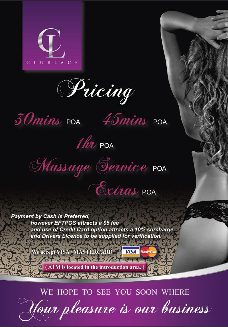 Club Lace Pricing