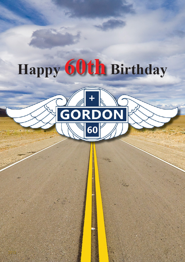 60th Birthday Card Cover