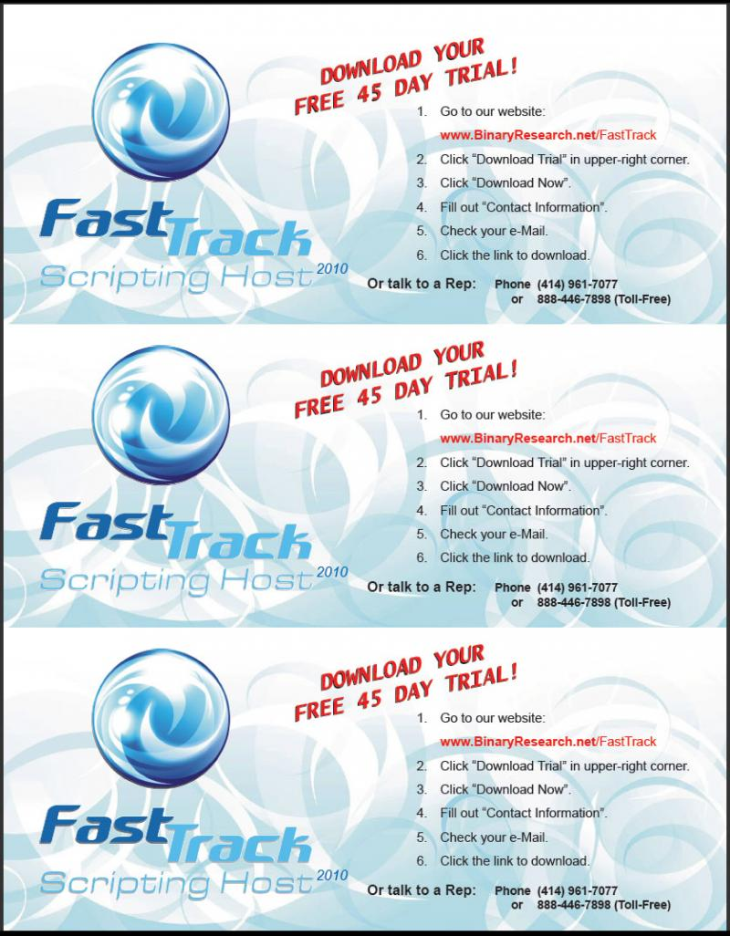 FastTrack 3-Up Leaflets