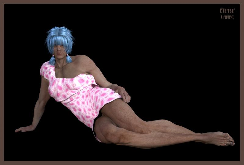 Blue-Haired Male Model