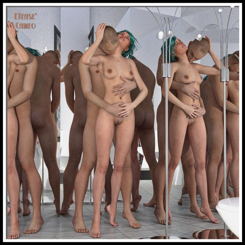 Adam and Eve - 4 Mirrors