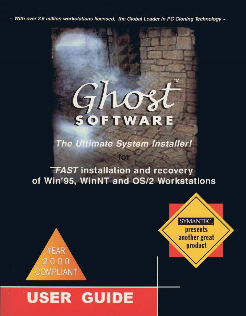 Y2K Version of Ghost User's Manual Cover