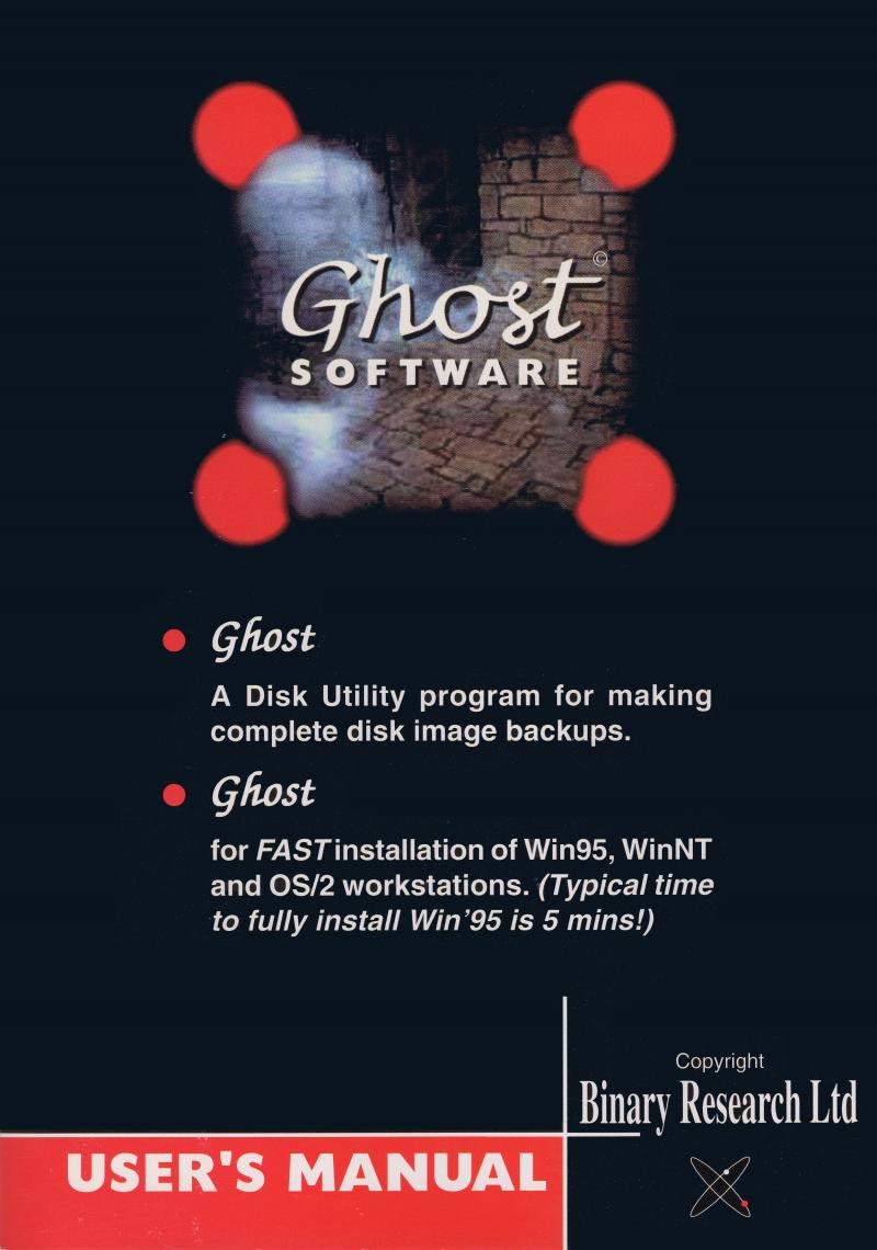Original Ghost Manual Cover
